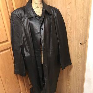 Worthington ladies 3x  leather jacket coat black